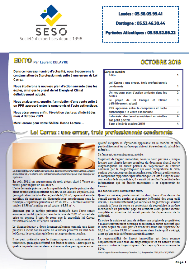 NEWS OCTOBRE 2019