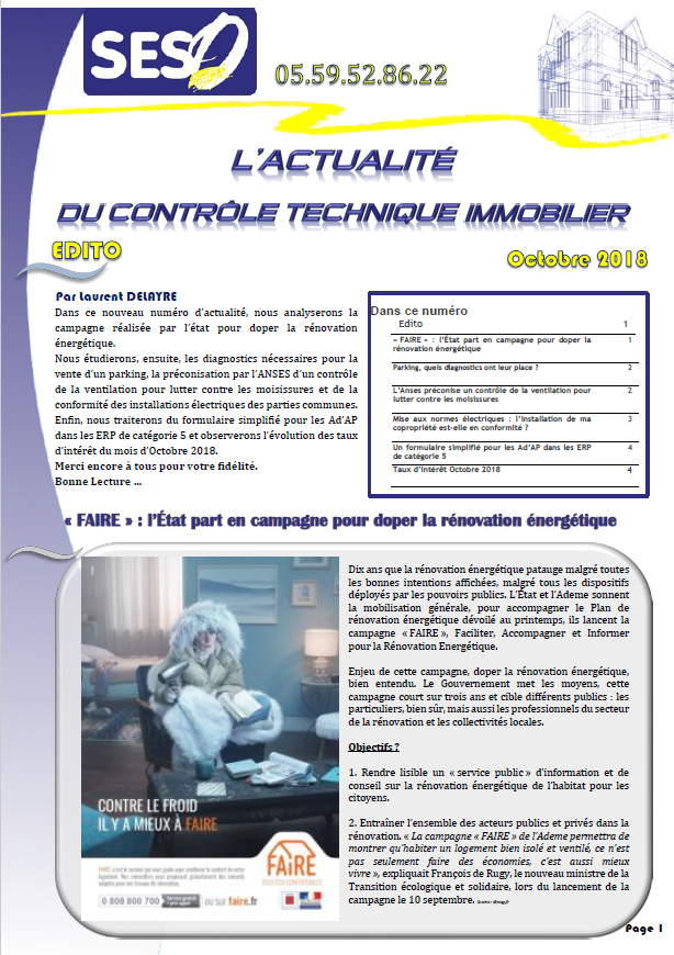 NEWS OCTOBRE 2018 PAGE 1
