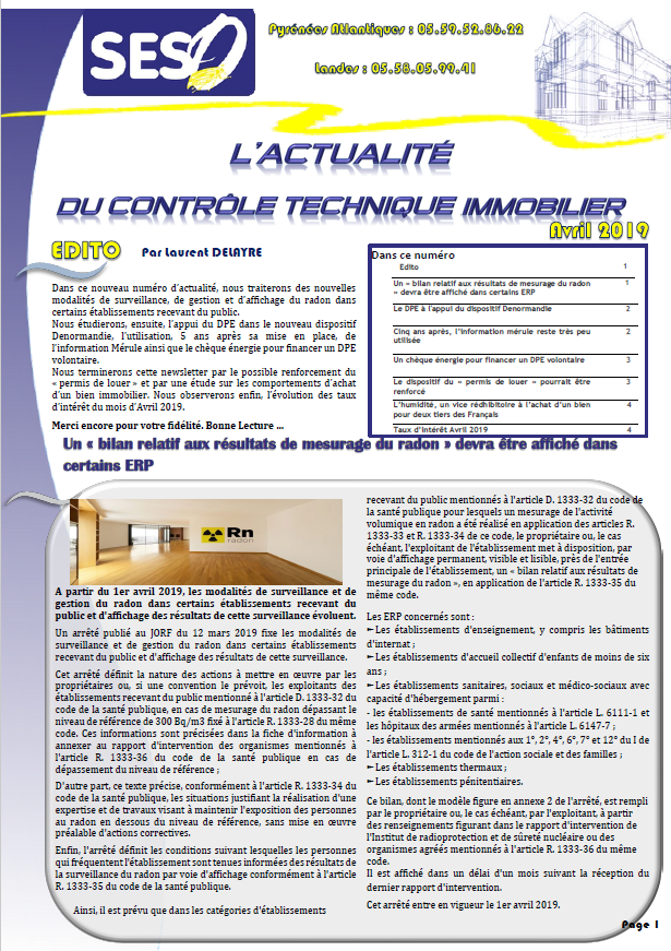 NEWS AVRIL 2019 PAGE 1