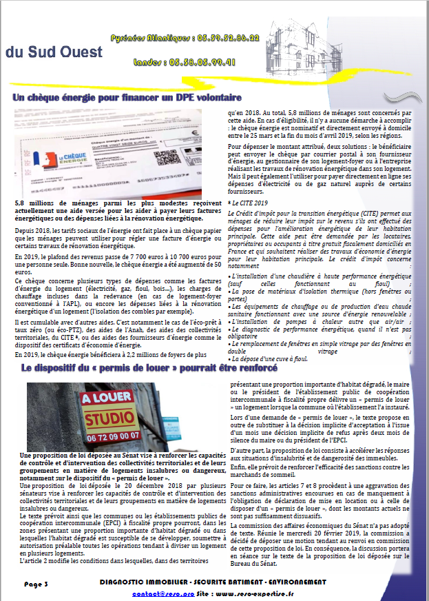 NEWS AVRIL 2019 PAGE 3